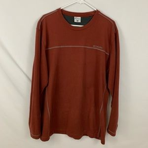 Columbia men's rust color long sleeve shirt